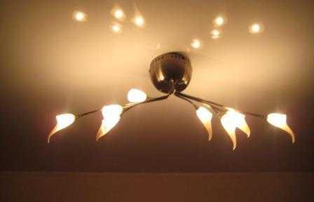 Установка потолочных светильников в Санкт-Петербурге не дорого