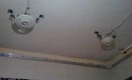 Установка точечных светильников в Санкт-Петербурге